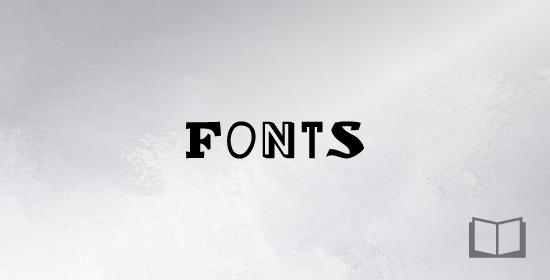Каталог шрифтов для набивки