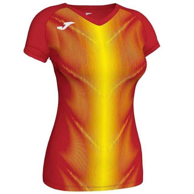 Футболка красно-желтая женская OLIMPIA 900933.609