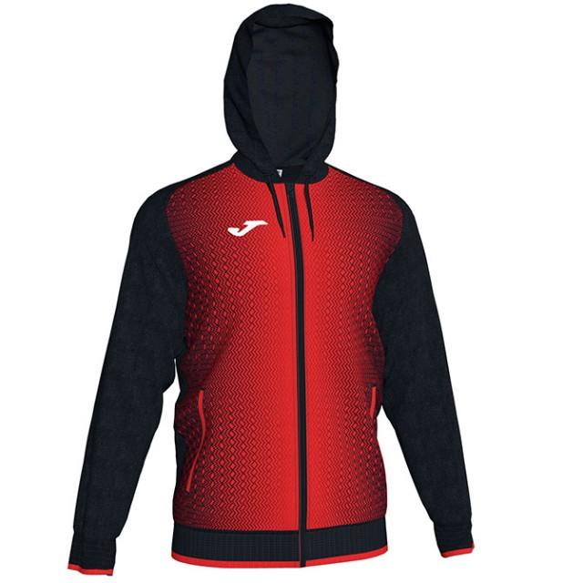 Олимпийка черно-красная с капюшоном SUPERNOVA 101285.106
