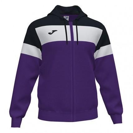 Олимпийка с капюшоном фиолетово-черная CREW 101537.551
