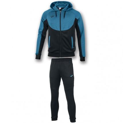 Спортивный костюм черно-бирюзовый с капюшоном ESSENTIAL 101019.116