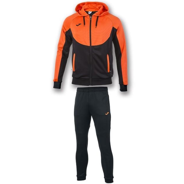 Спортивный костюм черно-оранжевый с капюшоном ESSENTIAL 101019.120