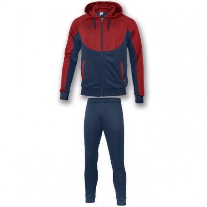 Спортивный костюм т.синьо-красный с капюшоном ESSENTIAL 101019.306