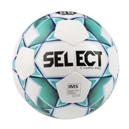 Мяч Select Campo PRO, 5 бело-зеленый 386000 б/з