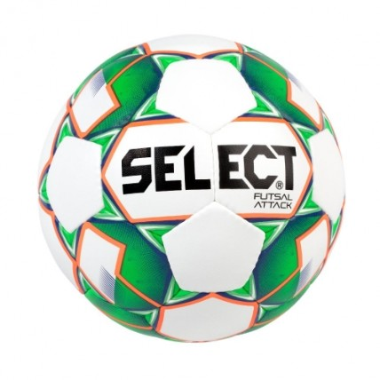 Мяч SELECT FUTSAL ATTACK NEW,  3 бело-зеленый107343 б/з