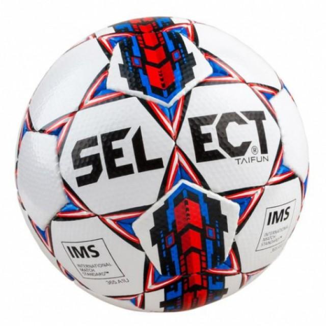 Мяч SELECT TAIFUN, 4 бело-красный 385510 б/ч/4