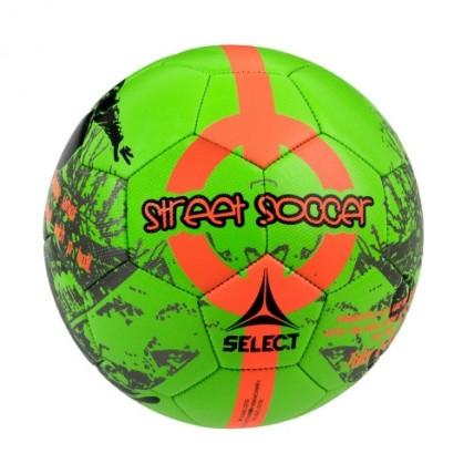 Мяч SELECT STREET SOCCER NEW, 4,5 злено-оранжевый 095521 з/п