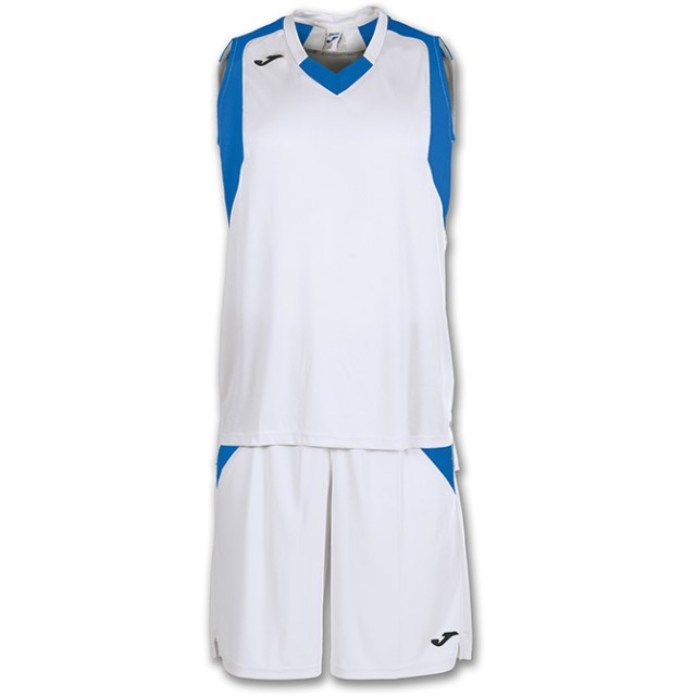 Комплект баскетбольной формы бело-синий FINAL 101115.207