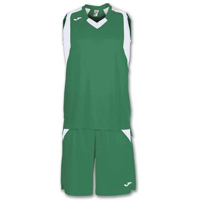 Комплект баскетбольной формы зелено-белый FINAL 101115.452