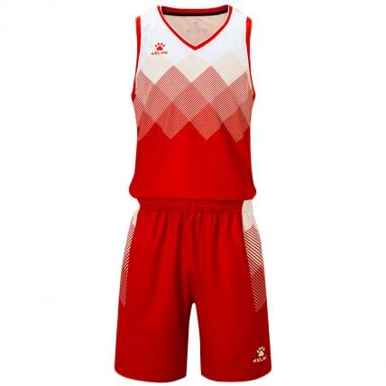 Комплект баскетбольной формы красно-белый б/р 8052LB1001.9610