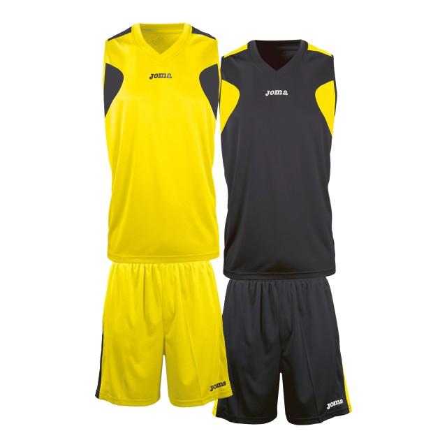 Баскетбольная форма желто-черная Joma 1184.901