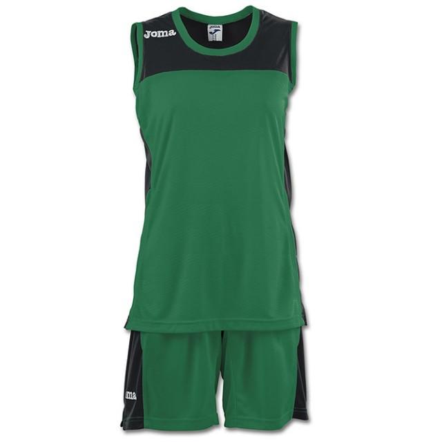 Баскетбольная форма зеленая женская SET SPACE II 900376.451
