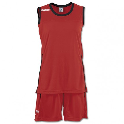 Баскетбольная форма красная женская SET SPACE II 900376.601
