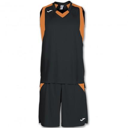 Комплект баскетбольной формы черно-оранжевый FINAL 101115.120