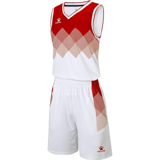 Комплект баскетбольной формы GOLDEN бело-красный 8052LB1001.9107