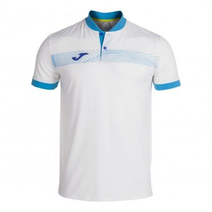 Футболка поло с воротником бело-голубая к/р TORNEO 101807.207