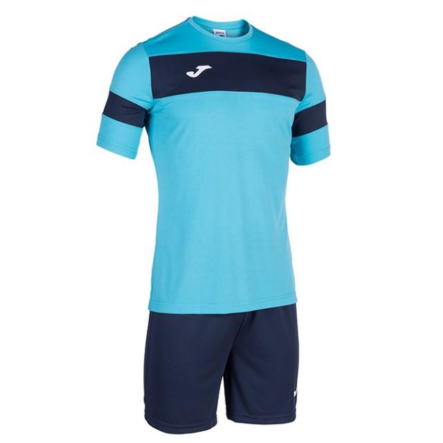 Комплект бирюзово-т.синий футболка к/р и шорты ACADEMY II 101349.013
