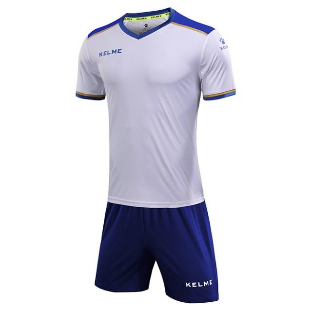 Комплект футбольной формы бело-синий к/р SEGOVIA 3871001.9104