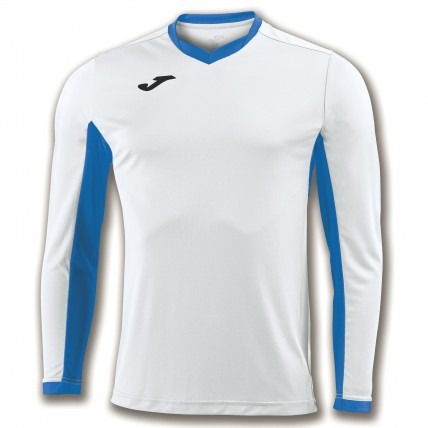 Футболка бело-синяя д/р CHAMPION IV 100779.207