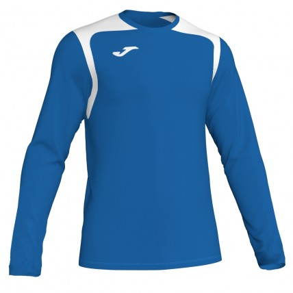 Футболка сине-белая д/р CHAMPION V 101375.702