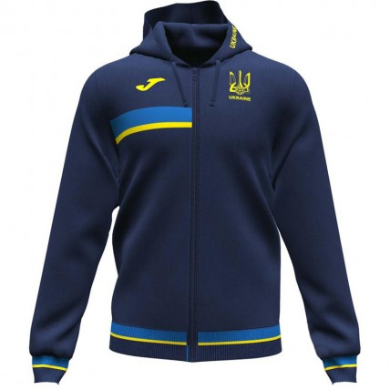 Олимпийка с капюшоном т.синьо-желтая ФФУ AT102378A339