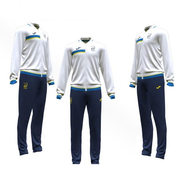 Спортивный костюм бело-т.синий ФФУ AT101345A203