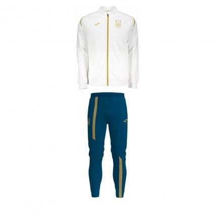 Спортивный костюм бело-т.синий ФФ Украины FFU312011,18