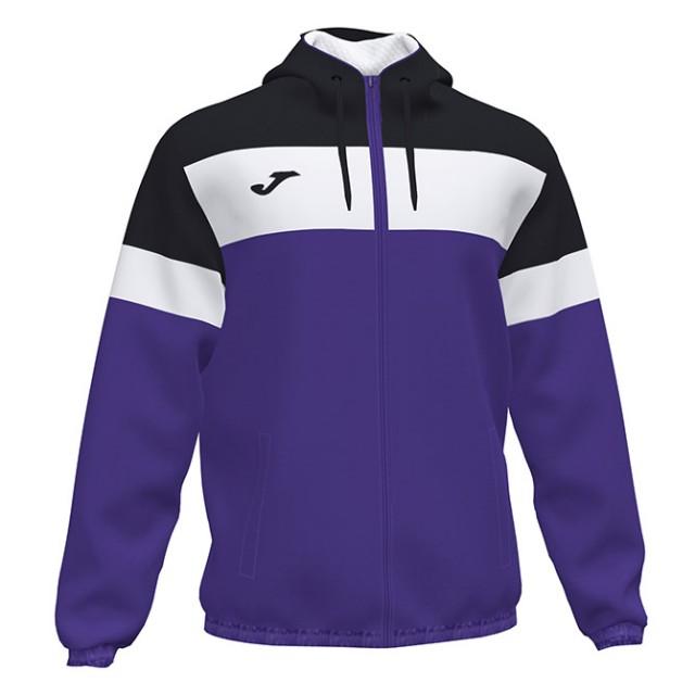 Ветровка с капюшоном фиолетово-черная CREW 101576.551